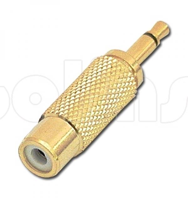 Переходник с Jack 3,5 мм на RCA (тюльпан) Gold