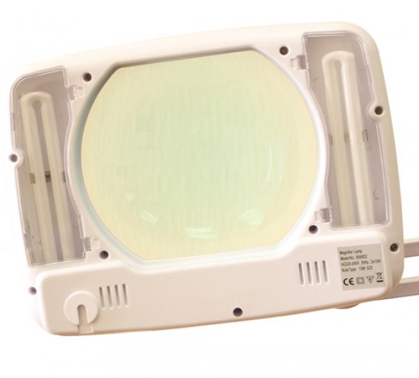 Лампа с лупой квадратная 3D