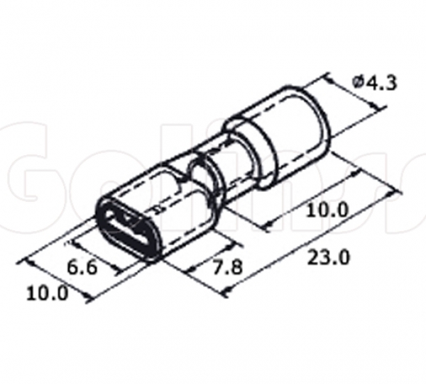 Клемма плоская для проводов 6,3 х 0,8 мм изолированная