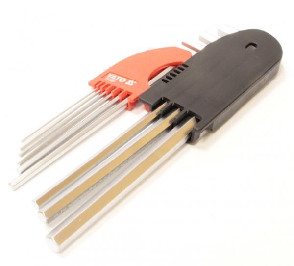 Набор шестигранных ключей Yato YT-0501 HEX 9CZ.1,5 - 10 мм удлиненный CrV