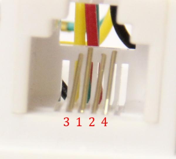 Телефонная розетка RJ11 RJ12