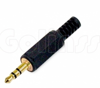 Разъём, штекер Jack 3,5 мм пластик Gold
