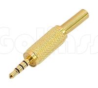 Разъём, штекер Jack 3,5 мм 4 pole HQ Gold