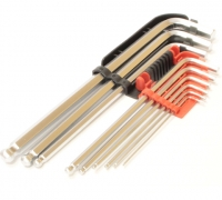 Набор шестигранных ключей HEX с полусферой Yato YT-0506 9CZ.1,5 - 10 мм удлиненный CrV